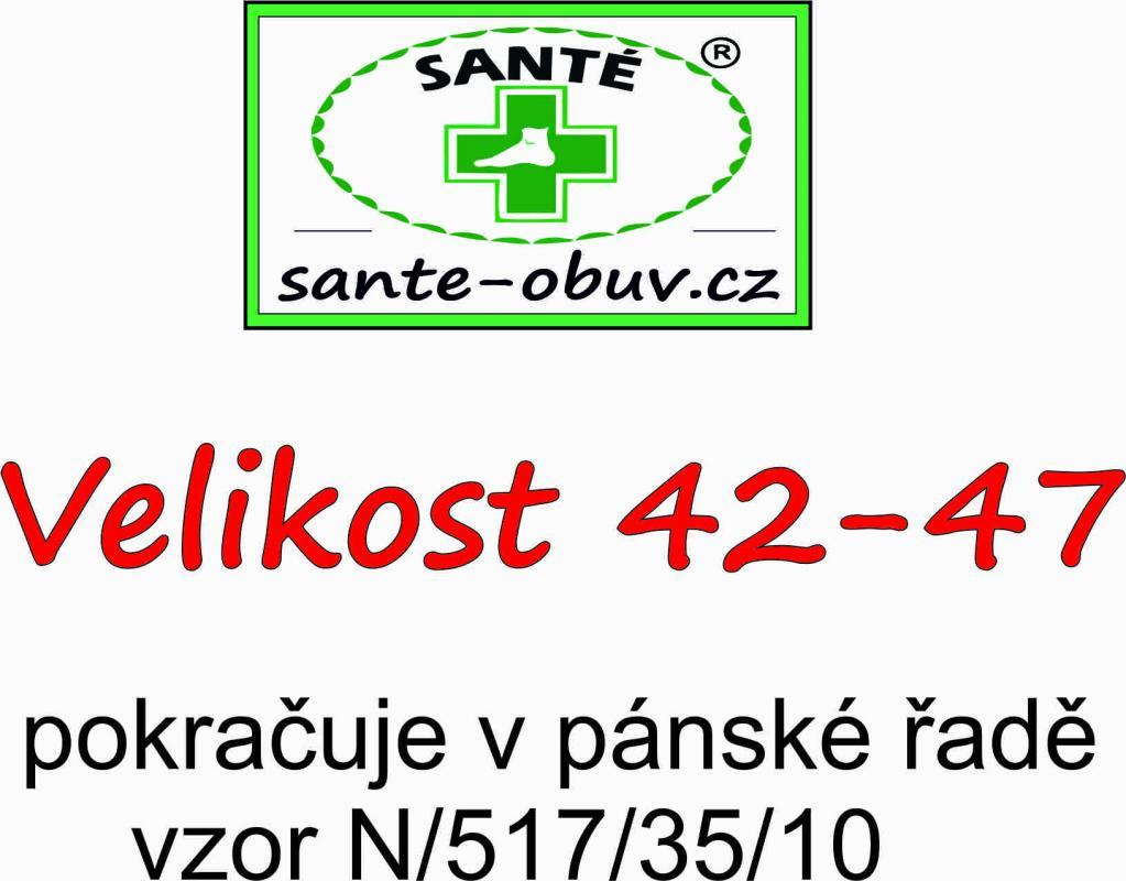 SANTÉ N 517 33 10 zdravotní pantofel bílá - SANTE OBUV 6ebe952f6d