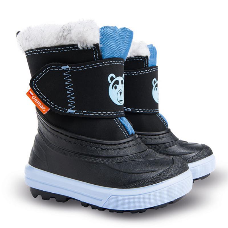 DEMAR dětské sněhule BEAR A 1507 modré vel.20-29