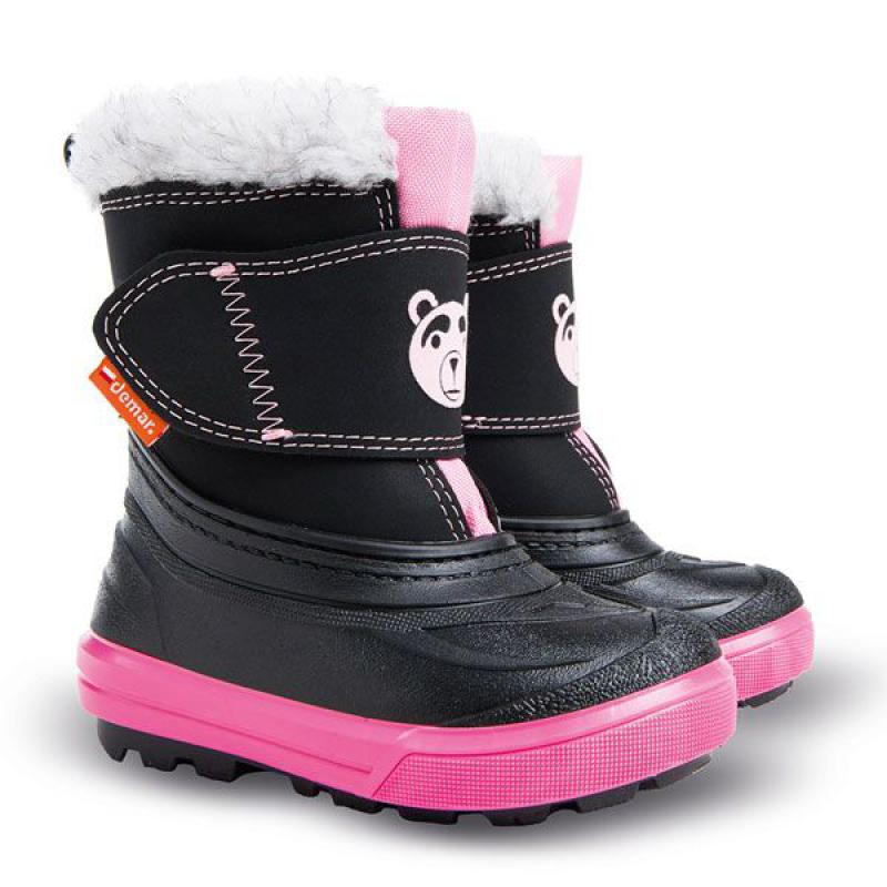 DEMAR dětské sněhule BEAR B 1507 růžové vel.20-29