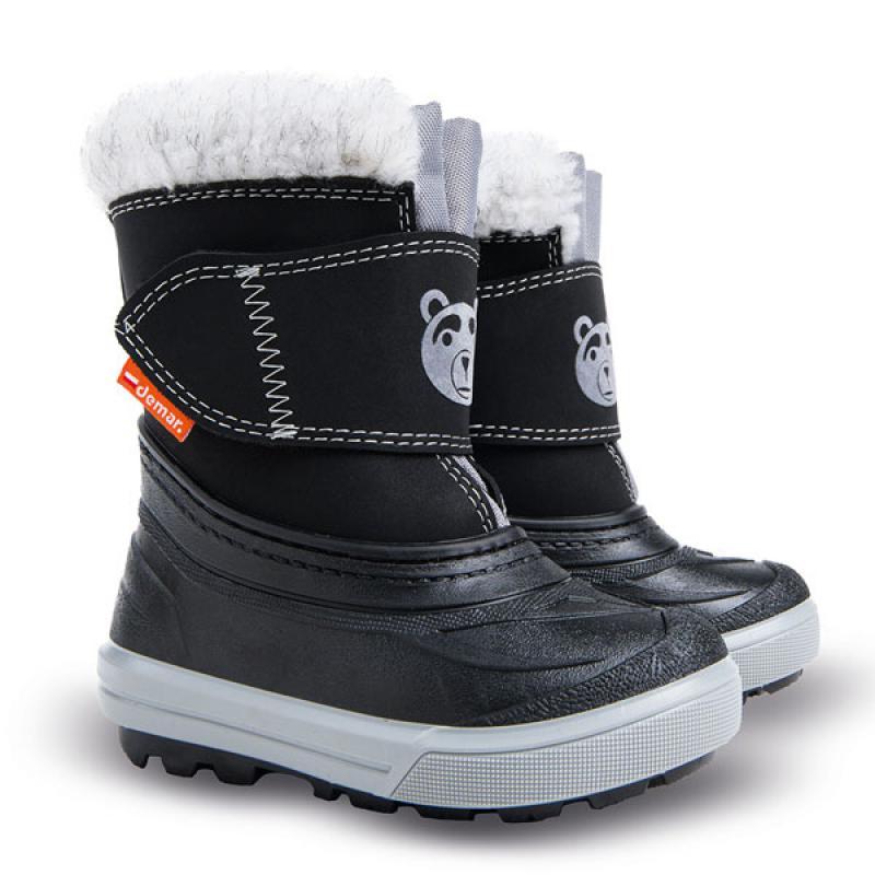 DEMAR dětské sněhule BEAR C 1507 černé vel.20-29