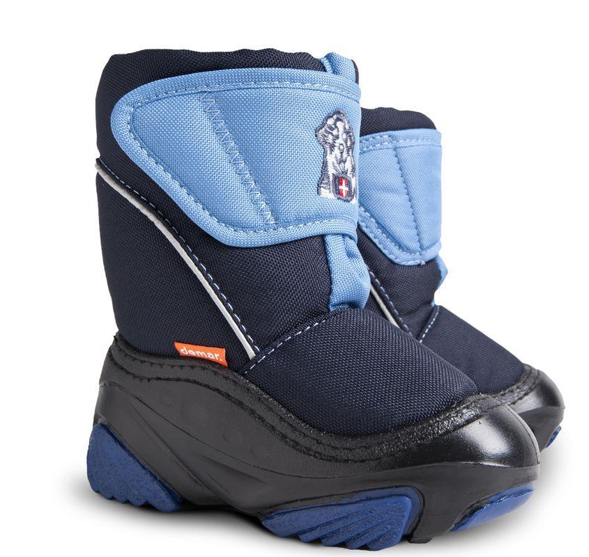 DEMAR dětské sněhule DOGGY D 4021 modré vel.20-29