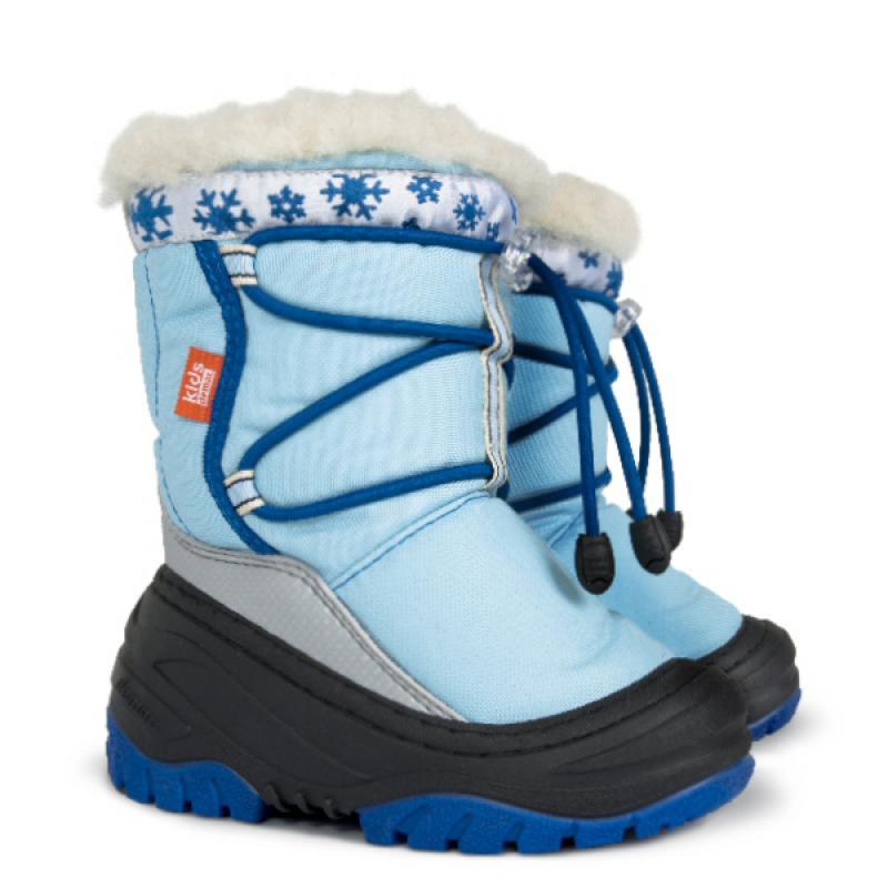 DEMAR dětské sněhule FUZZY A 4030 modré vel.20-29
