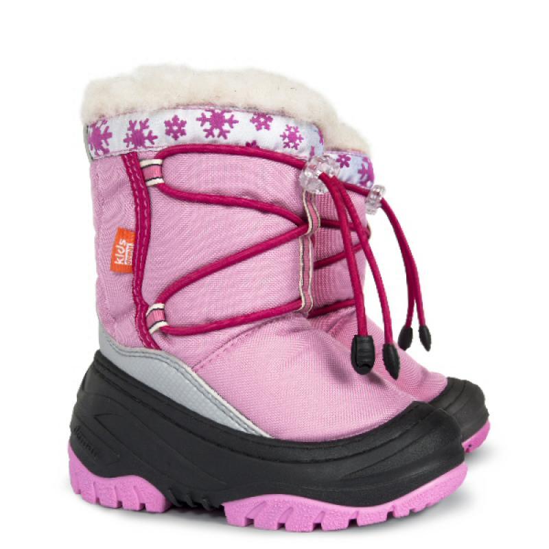 DEMAR dětské sněhule FUZZY B 4030 růžové vel.20-29