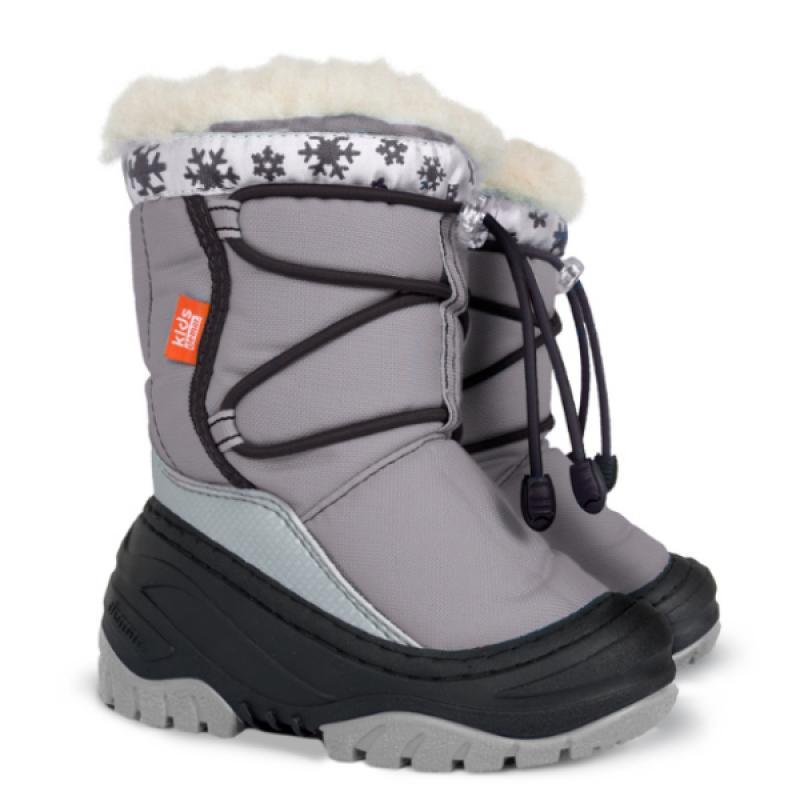 DEMAR dětské sněhule FUZZY C 4030 šedé vel.20-29