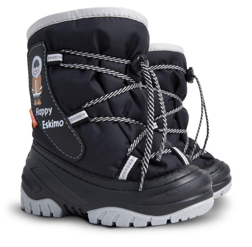 DEMAR dětské sněhule HAPPY ESKIMO D 4035 černé vel.20-29