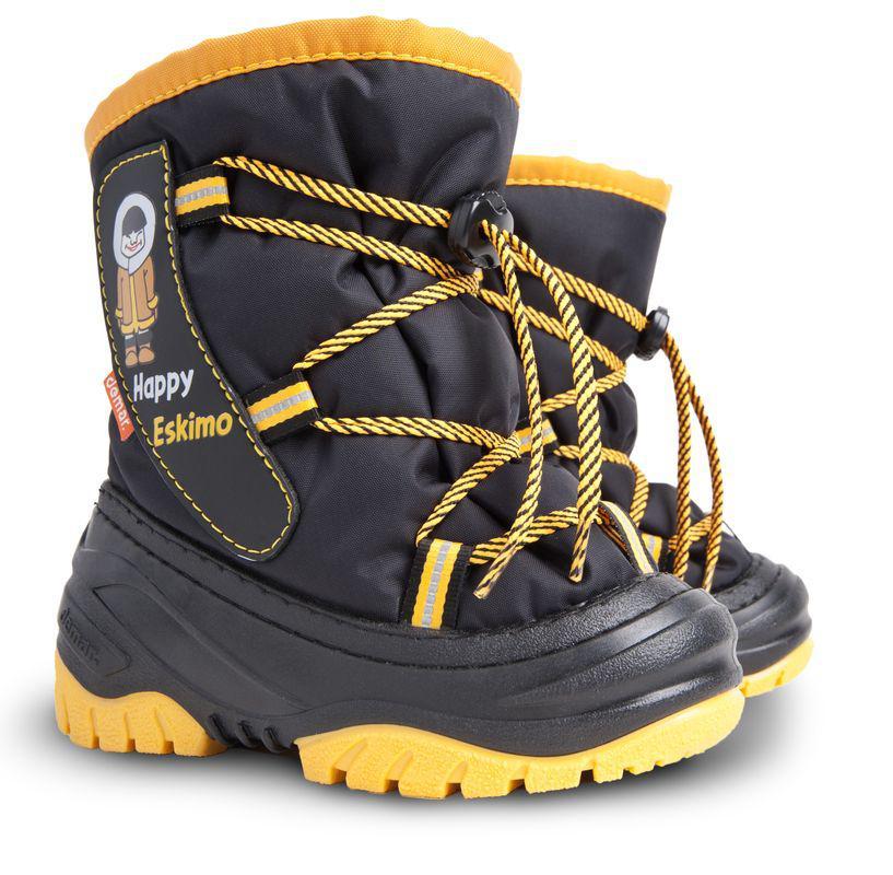 DEMAR dětské sněhule HAPPY ESKIMO C 4035 žluté vel.20-29