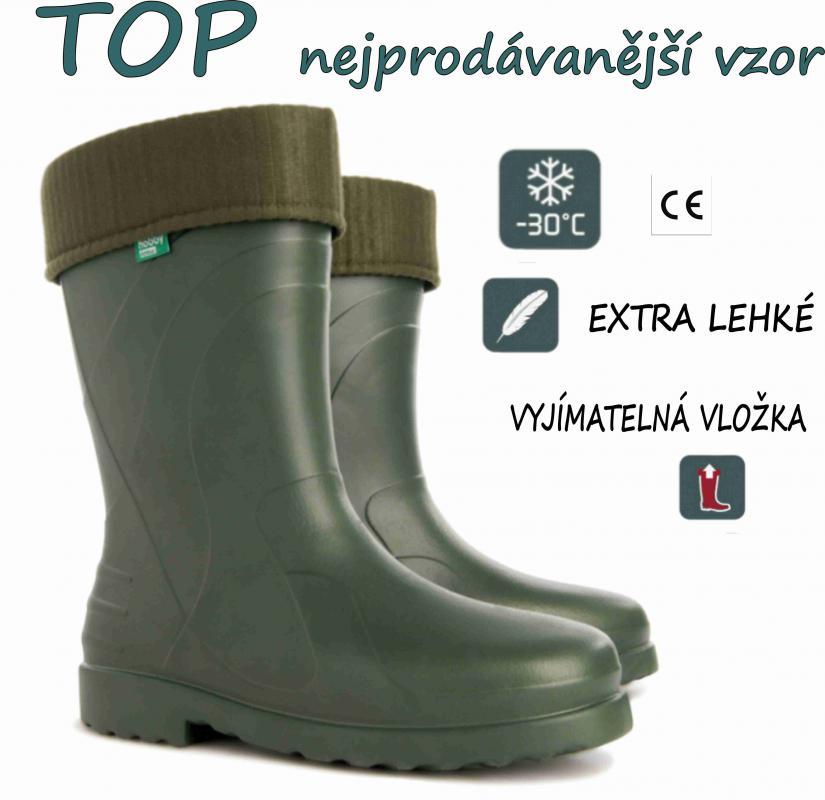 DEMAR holínky LUNA 0220 B zelená - LEVNÉ HOLÍNKY 244fbadd15