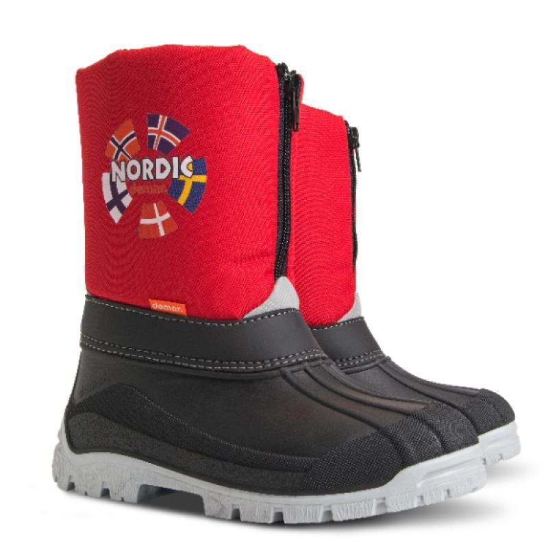 DEMAR dětské sněhule NEW NORDIC C 1312 červené vel.25-36