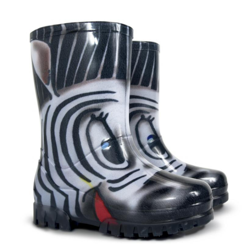 DEMAR dětské holínky Twister 0037 S zebra vel.28-35